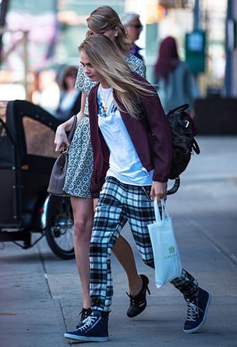 Taylor Swift et Cara Delevingne à New York le 9 avril 2014