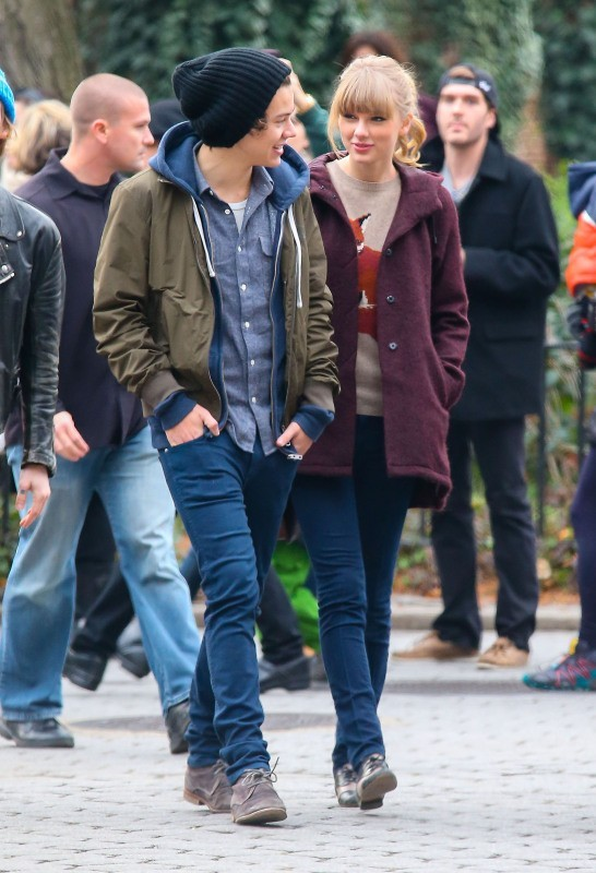 Taylor Swift et Harry Styles à New York, le 2 décembre 2012.