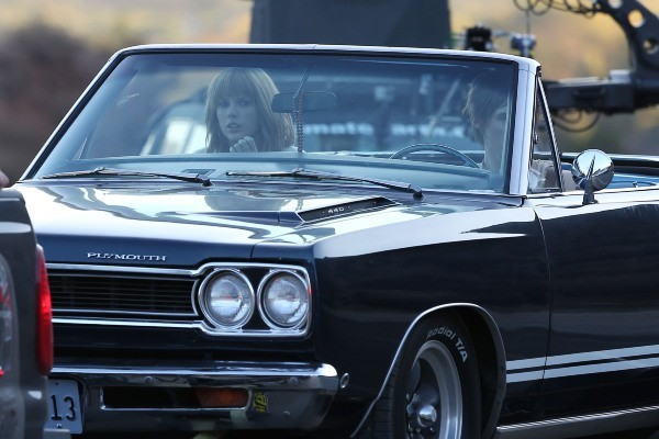 "Taylor Swift sur le tournage de ""I Knew You Were Trouble"" à Acton en Californie, le 19 novembre 2012."