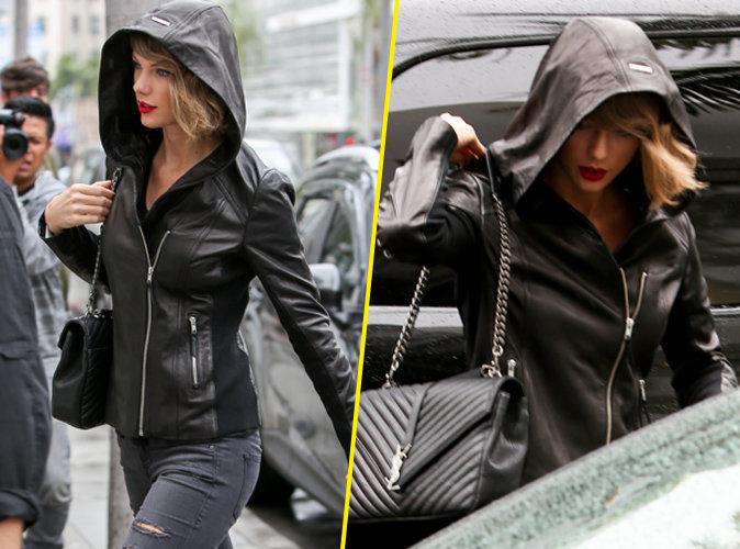 Taylor Swift : jeans troué, veste en cuir, elle impose son style à Beverly Hills