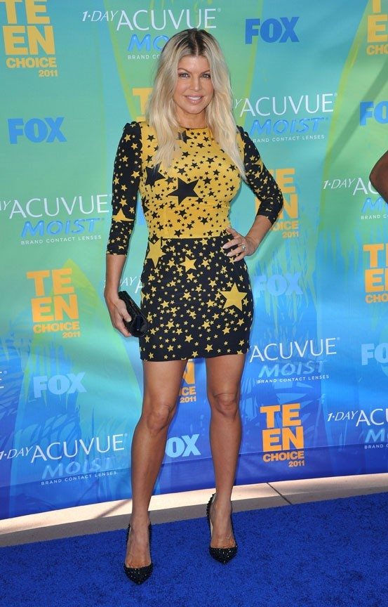Fergie lors des Teen Choice Awards à Los Angeles, le 7 août 2011.