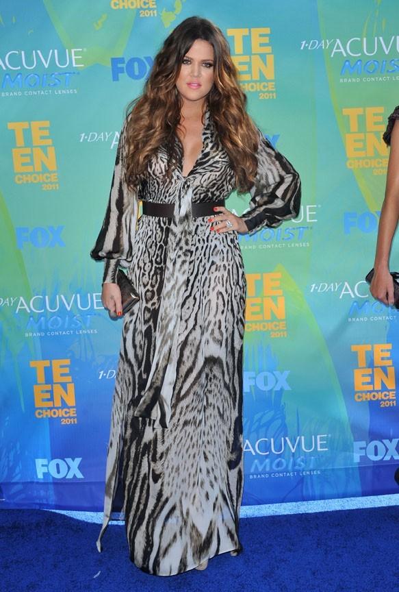 Khloe Kardashian lors des Teen Choice Awards à Los Angeles, le 7 août 2011.