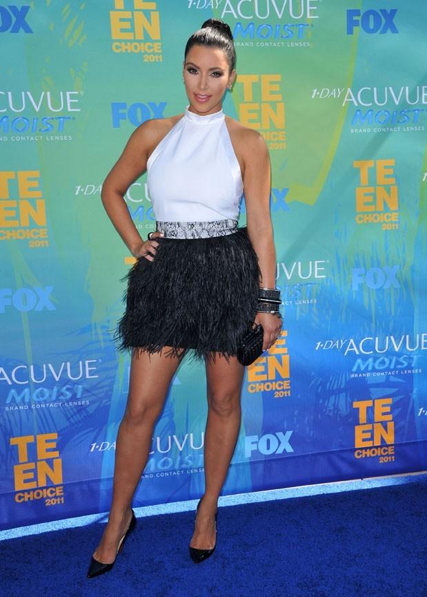 Kim Kardashian lors des Teen Choice Awards à Los Angeles, le 7 août 2011.