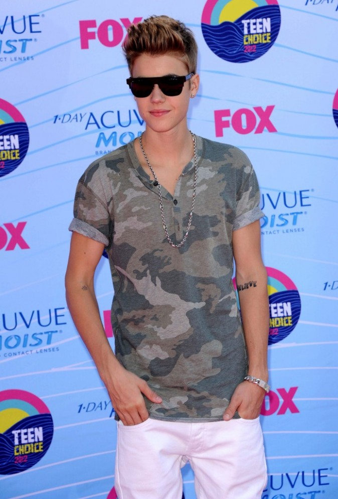 Justin Bieber lors des Teen Choice Awards 2012 à Universal City, le 22 juillet 2012.