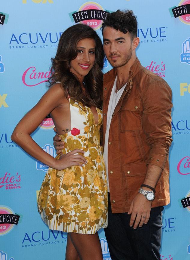 Danielle et Kevin Jonas à la cérémonie des Teen Choice Awards, à Los Angeles, le 11 août 2013