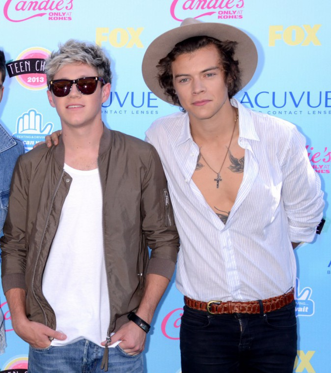 Niall Horan et Harry Styles à la cérémonie de Teen Choice Awards le 11 août 2013