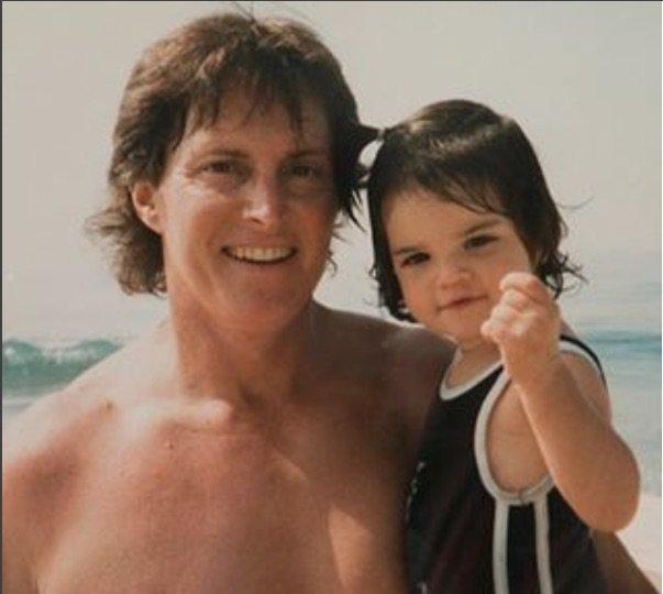 Kendall Jenner et son père il y a plus longtemps ...