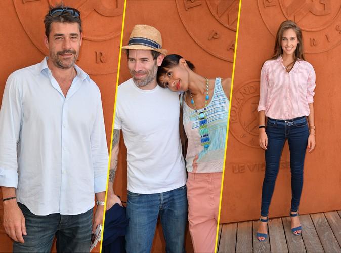 Photos : Thierry Neuvic sans Jenifer, Sonia Rolland amoureuse et Ophélie Meunier radieuse au village Roland-Garros !