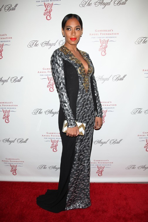 Solange Knowles à l'Angel Ball de New-York le 22 octobre 2012