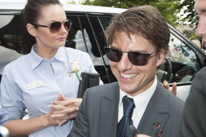 Tom Cruise au tournoi hippique de Goodwood le 31 juillet 2014