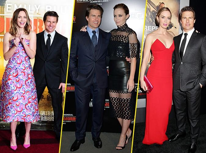 Photos : Tom Cruise et Emily Blunt : ils assurent 3 premières en moins de 24h entre Londres, Paris et...  New York !