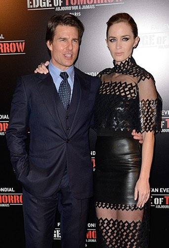 Tom Cruise et Emily Blunt à Paris le 28 mai 2014