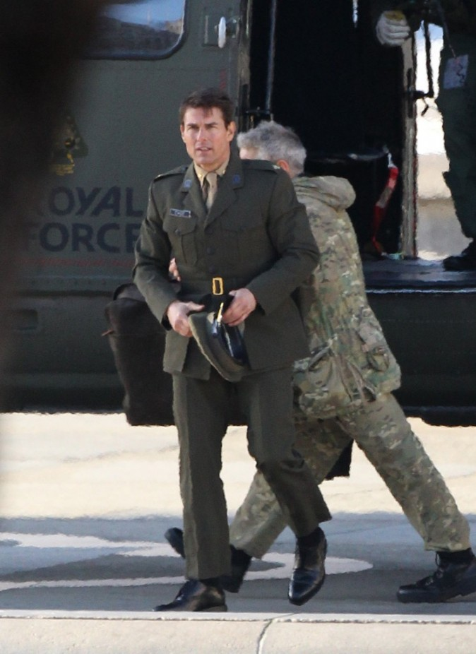Tom Cruise en tournage à Londres hier
