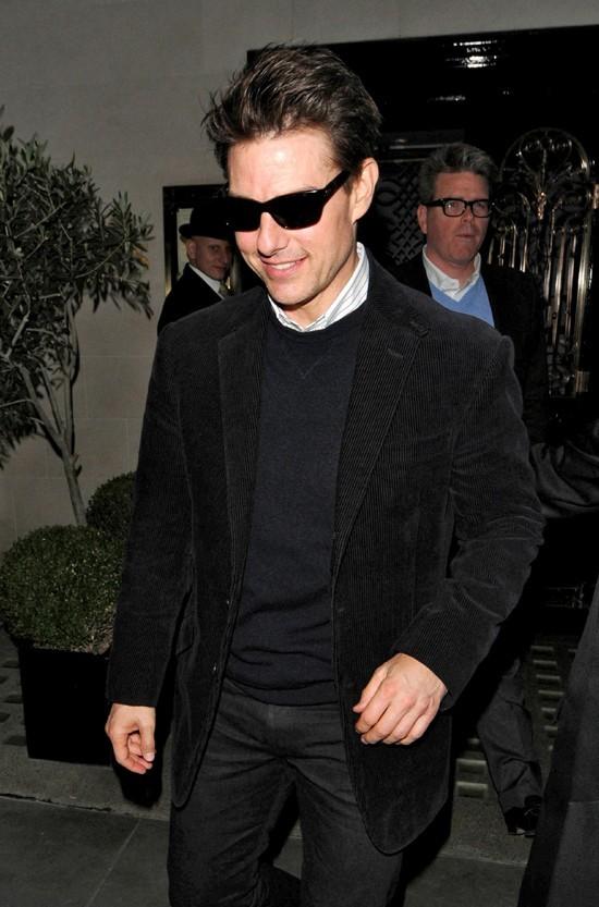 Tom Cruise à Londres le 13 octobre 2012
