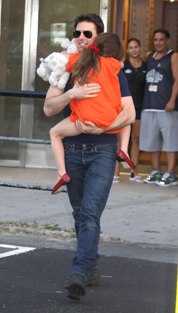 Tom Cruise et sa fille Suri Cruise le 17 juillet 2012 à New York