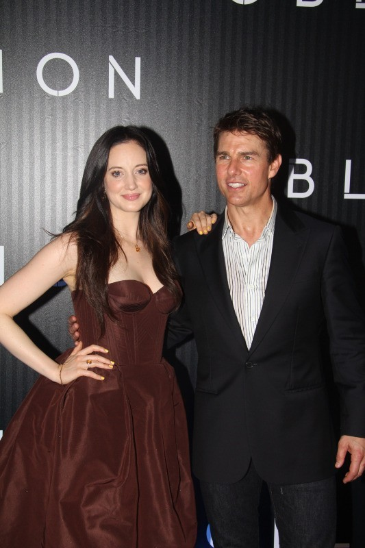 Tom Cruise et Andrea Riseborough le 27 mars 2013 à Rio