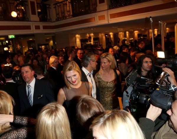 """Toni Garrn lors de la soirée des """"Best Brands Awards"""" à Munich, le 5 février 2014."""