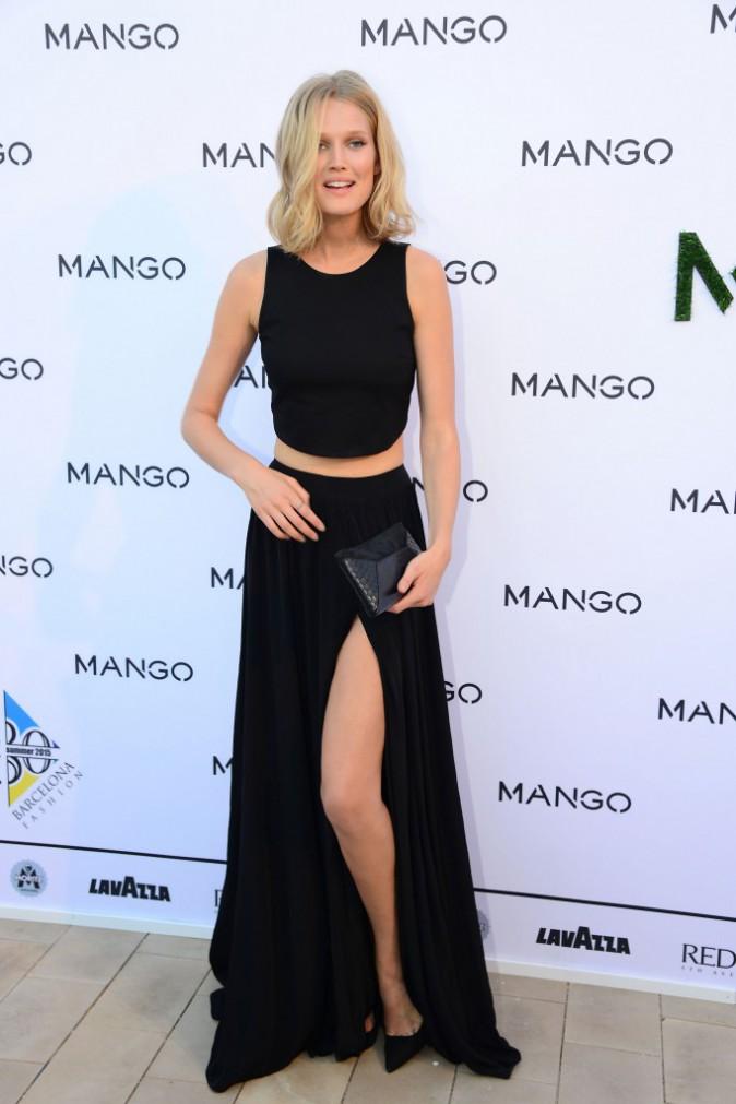 Toni Garrn à Barcelone pour Mango le 30 juin 2014
