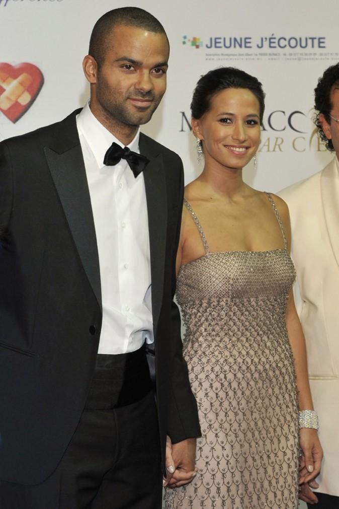 Tony Parker et Axelle au gala de charité Monaco par coeur le 22 septembre 2012