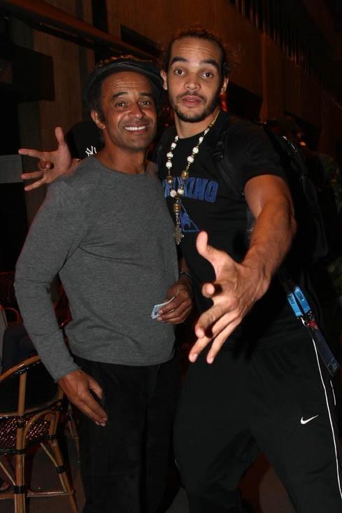 Joakim Noah et son père Yannick : en forme malgré la défaite !