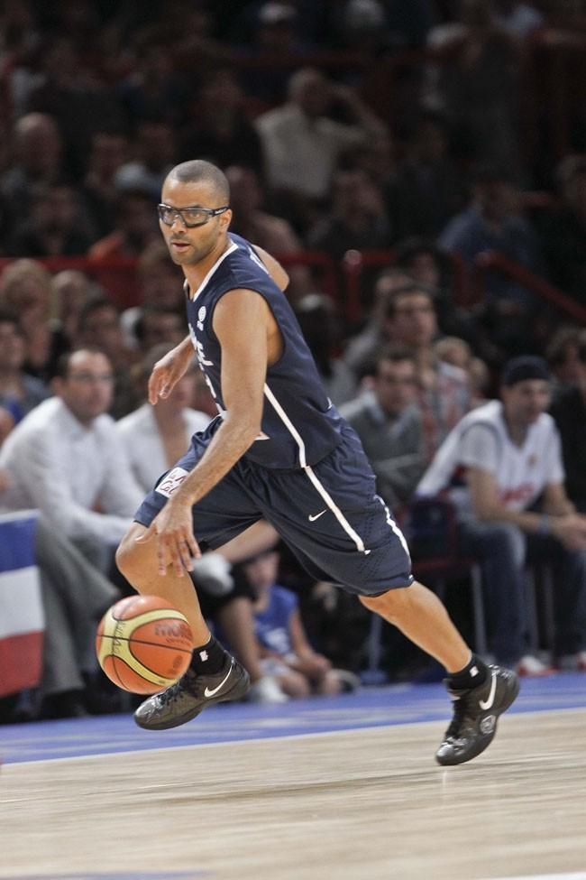 Tony Parker le 15 juillet 2012 à Paris