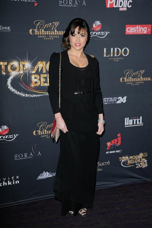 Capucine Anav lors du concours Top Model Belgium à Paris, le 23 novembre 2014