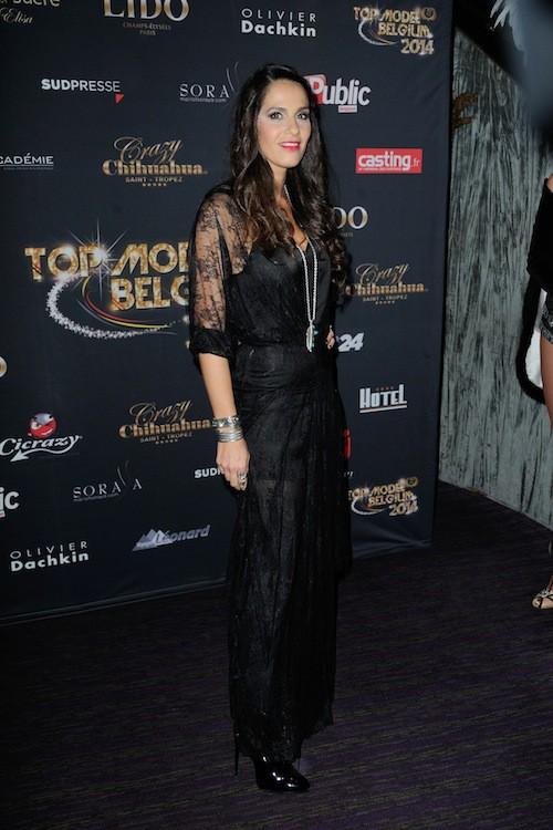 Elisa Tovati lors du concours Top Model Belgium à Paris, le 23 novembre 2014