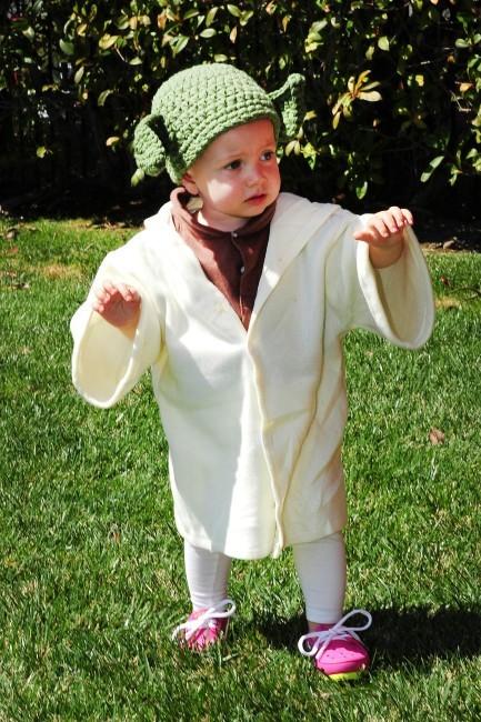 Hettie déguisée en Yoda, Los Angeles, 16 mars 2013.