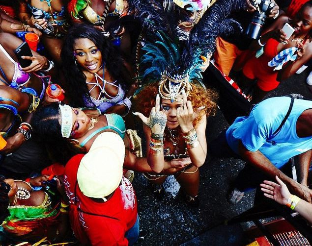 Rihanna au carnaval de la Barbade