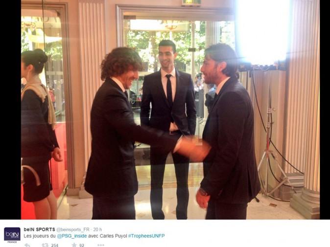 Carles Puyol, Javier Pastore et Maxwell