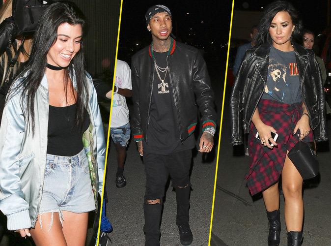 Tyga, Kelly Rowland, les soeurs Kardashian ... c'est le d�fil� de stars au concert de Beyonc� !
