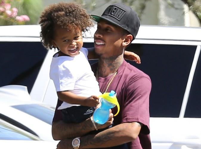 Tyga et son fils, le 16 août 2015