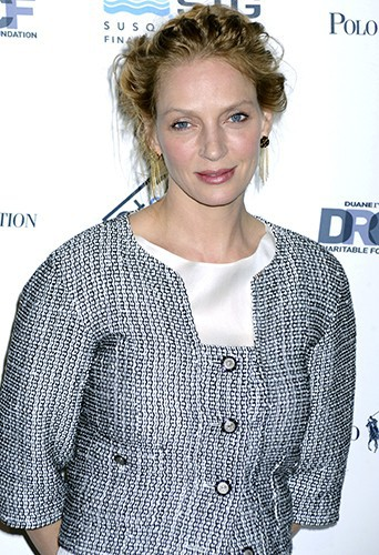 Uma Thurman à New York le 8 avril 2014