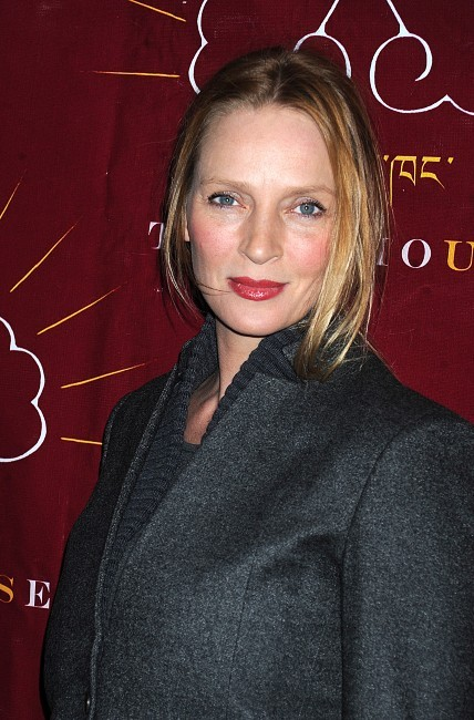 Uma Thurman le 18 décembre 2012 à New York