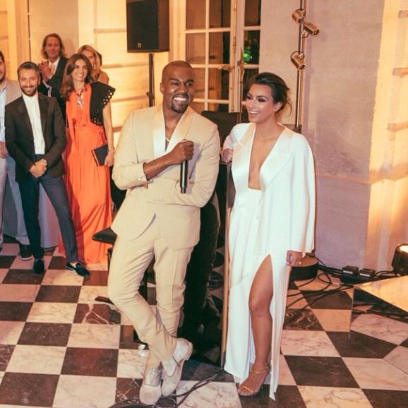 Kim Kardashian et Kanye West le 23 mai 2014