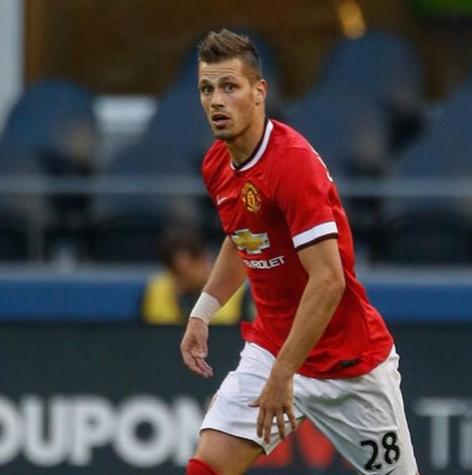 Morgan Schneiderlin avec ses nouvelles couleurs, celles de Manchester United