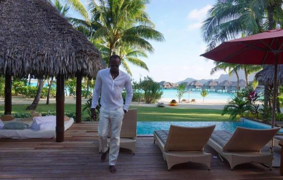 Usain Bolt en vacances à Bora Bora avec sa chérie Kasi Bennett