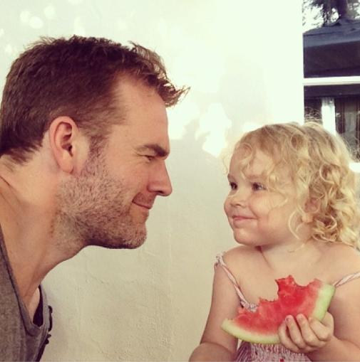 James Van Der Beek et sa fille Olivia