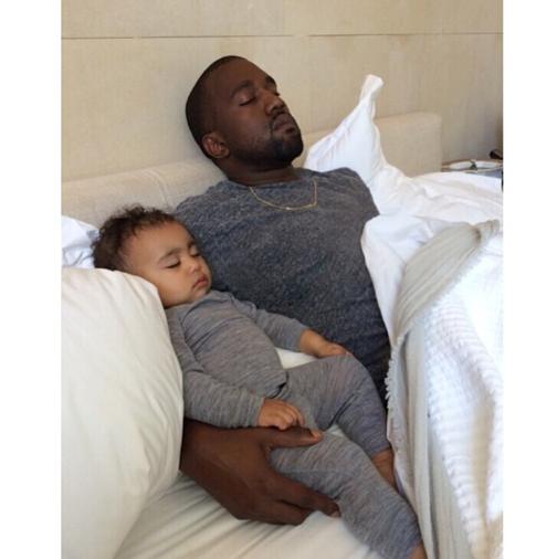 Kanye West et sa fille