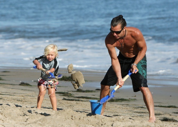 Mission pelle pour le mari de Gwen Stefani et son garçon !