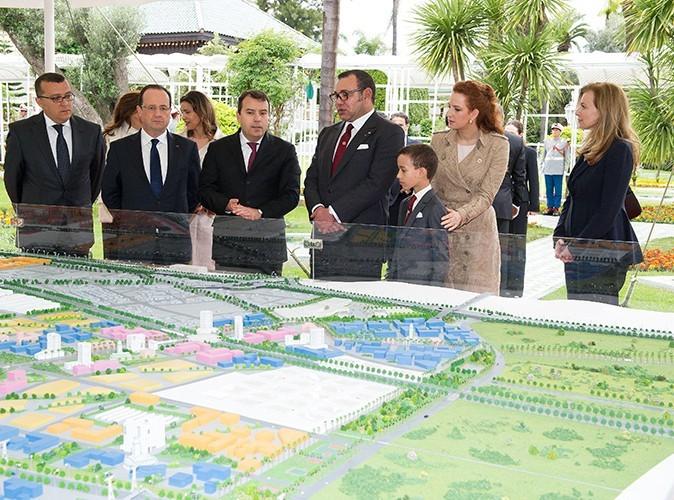 Valérie Trierweiler et François Hollande à Casablanca le 3 avril 2013