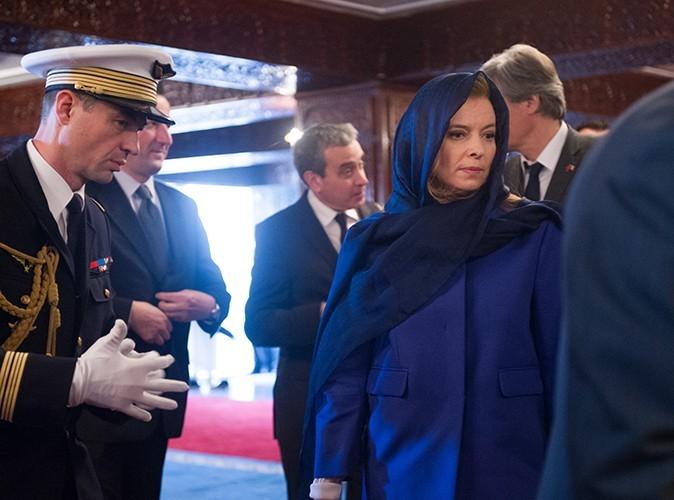 Valérie Trierweiler et François Hollande à Rabat le 4 avril 2013