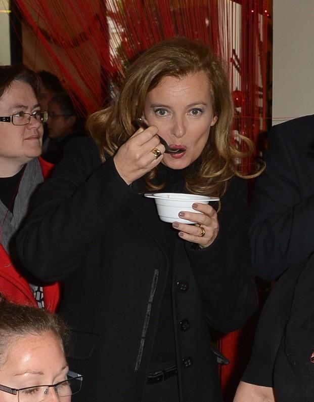 Valérie Trierweiler à Angers le 8 décembre 2012