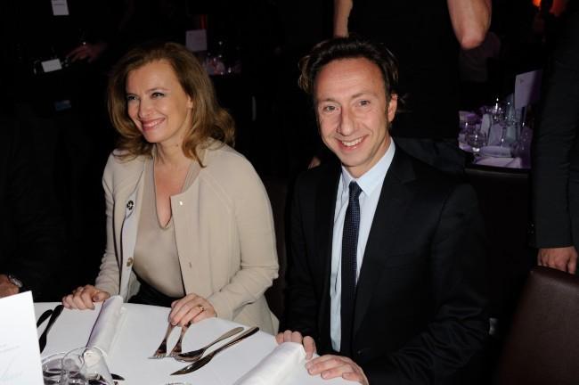 Valérie Trierweiler et Stéphane Bern le 5 décembre 2012 à Paris