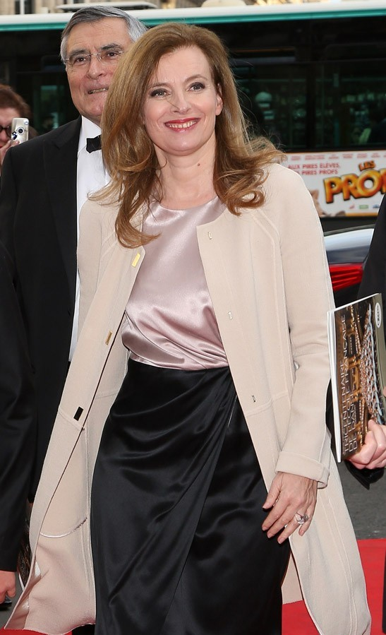Valérie Trierweiler au gala de l'Opéra Garnier, le 15 avril 2013 à Paris