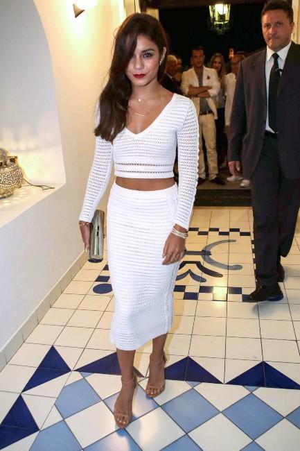 Vanessa Hudgens lors dîner de gala du Festival d'Ischia en Italie, le 18 juillet 2013.