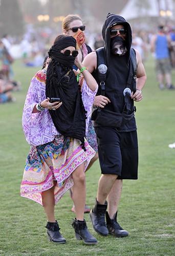 Vanessa Hudgens et Austin Butler à Indio le 12 avril 2014