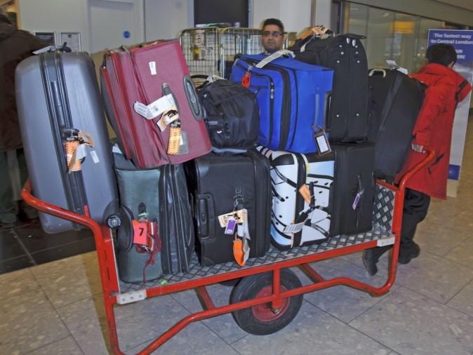 Impressionnantes toutes ces valises !