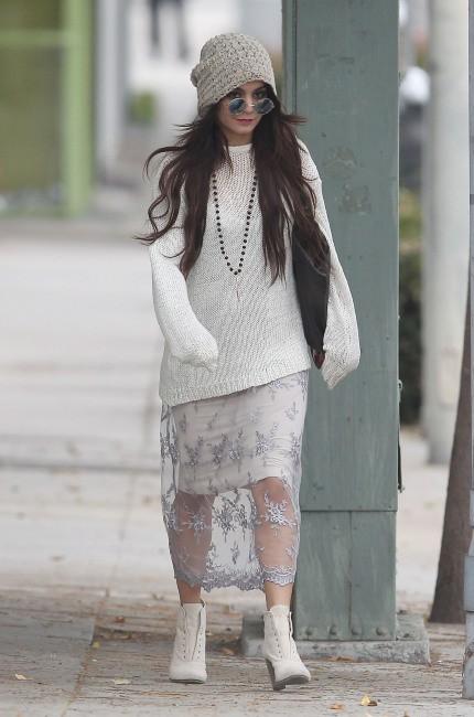 Vanessa Hudgens à Beverly Hills, le 30 janvier 2014.