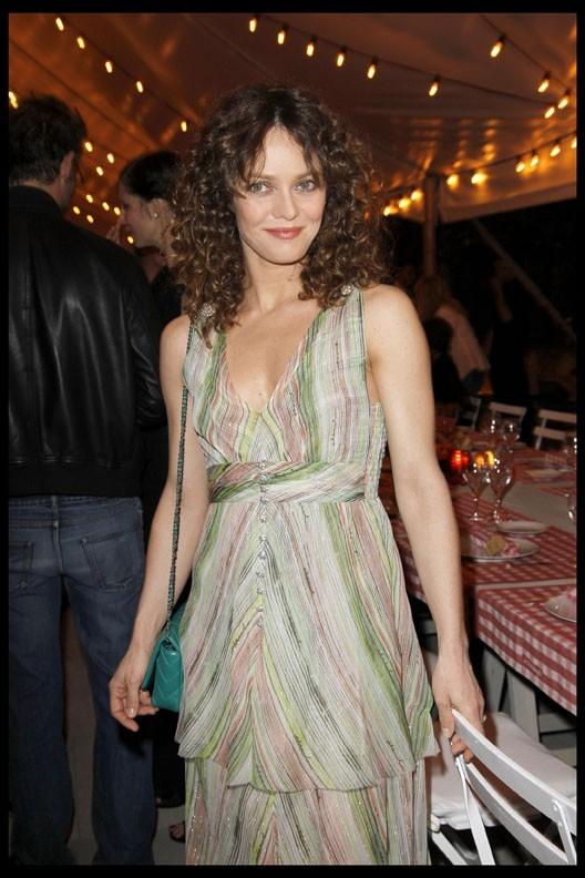 Vanessa Paradis lors du dîner Chanel en l'honneur de Karl Lagerfeld à Antibes, le 8 mai 2011.